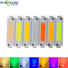 10PCS DC 12V 2W LED COB Chip Light Source Bulb White Yellow Orange Green Blue Red Purple Lamp for Work House Car LED Lights DIY(China)