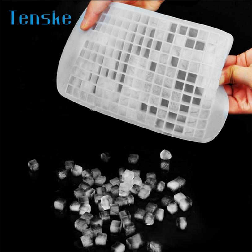 TENSKE Ice Cream Tub Hot Silicone Freeze Mold Bar Pudding Jelly Chocolate Maker Mold 160 Ice Cube U70427