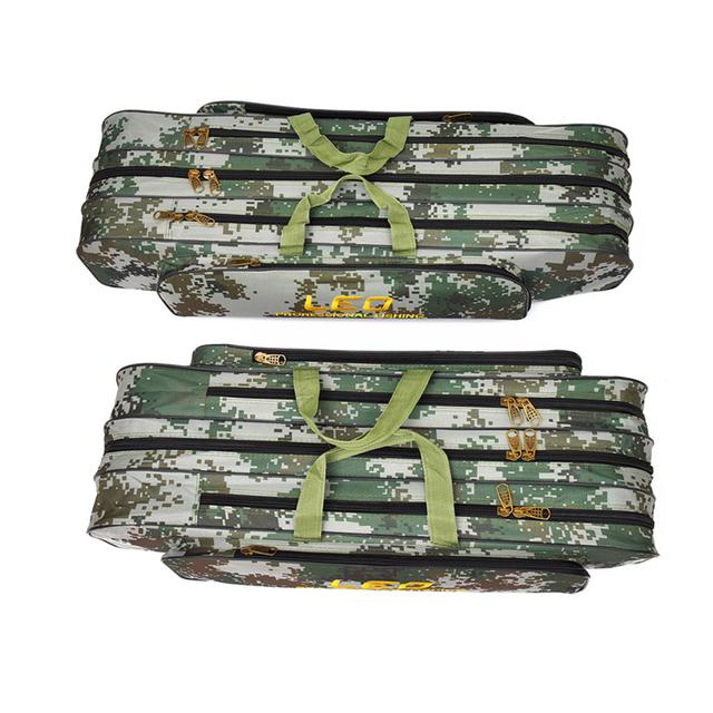 2018 Digital Camouflage Fishing Bags 600D Canvas 2/3 layer 80/90cm Fishing Rod Kit Tackle Boxes Multi-Purpose Fishing Gear Bags 2