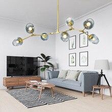 Lámpara colgante mágica Vintage con estilo Industrial, lámpara colgante LED moderna clásica con Árbol de oro negro y luz colgante