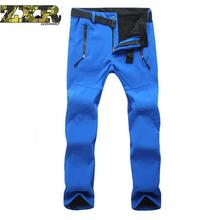 Winter Hiking Pants Fleece Softshell Tactical Quick Dry Breathable Outdoor Trousers Women Waterproof Mountain Trekking
