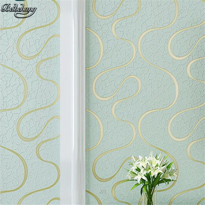 beibehang Yellow green red modern simple non-woven wallpaper warm bedroom 3D stereo stripes living room TV background wallpaper 0 53x10m modern blue gray green simple non woven wallpaper living room bedroom wedding room shop decoration wallpaper