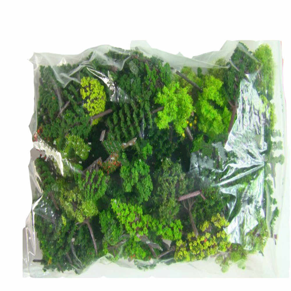 30Pcs/Lot  Model green Trees Mixed wire and plastic  Model Landscape Train Layout Garden Scenery Miniature