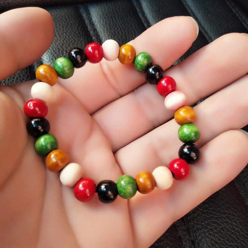 Этнический стиль серия новых цветов деревянный растягивающийся браслет из бисера lap маленькие бусины ювелирные изделия специальная оптовая продажа