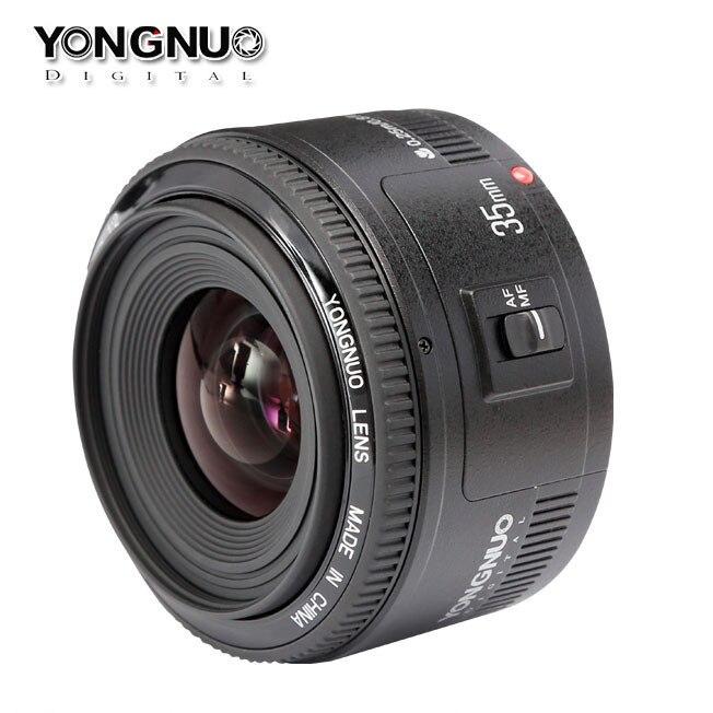 Объектив камеры YONGNUO YN 35 мм F2 для Nikon Canon EOS YN объективы 35 мм AF MF широкоугольный объектив для 600D 60D 5DII 5D 500D 400D 650D