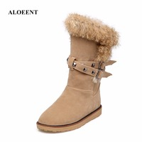 ALOEENT Women Fashion Classic Women S High Boot Winter Snow Shoes Fur Lined Rubber Sole Winter