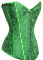 Sexy Green Corset Sexy Lingerie Brocade Royal Wedding Jarquard Corsets and Bustiers for Women Modeling Strap