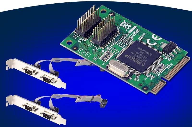 4 ports RS232 DB9 Pin série Mini PCIe carte d'extension Chipset pour MosChip MCS9904