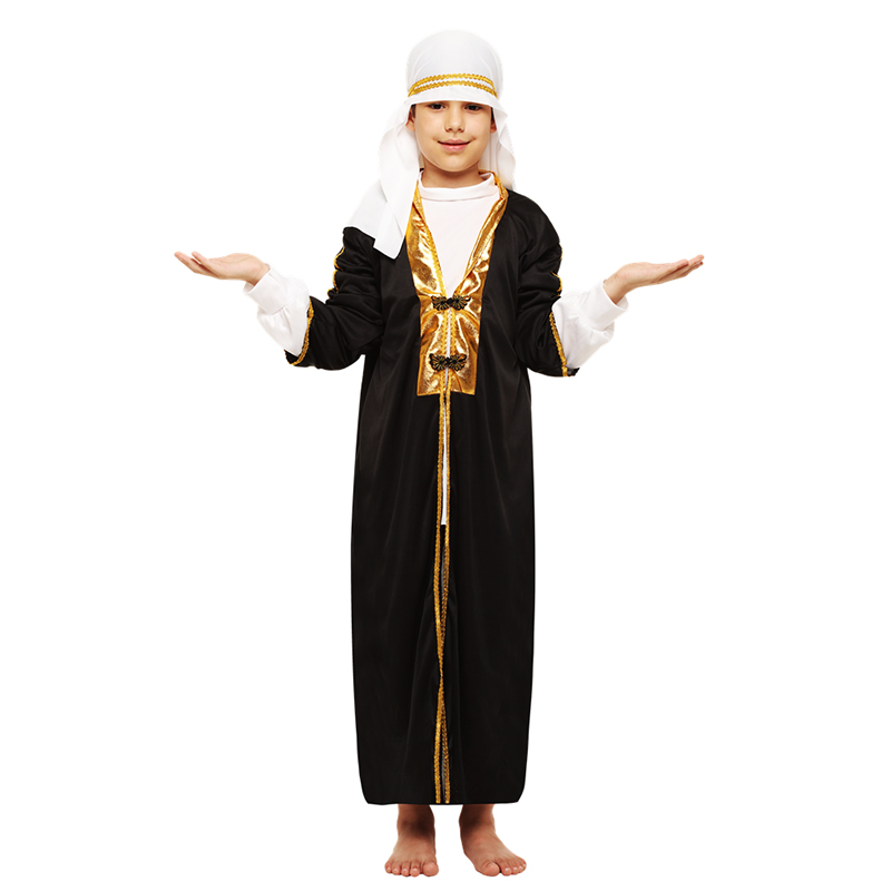 Arab Boy Costume Middle East Costume Robe Kids Traditional Clothes Halloween Carnival Cosplay Arabian Costumes