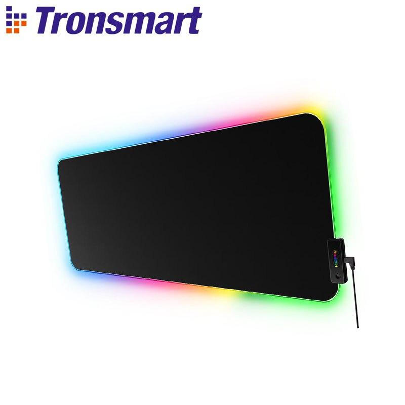 Tronsmart Spire игровой коврик для мыши водостойкий очень большой компьютерный коврик для мыши с 10 цветами освещения для World of Warcraft