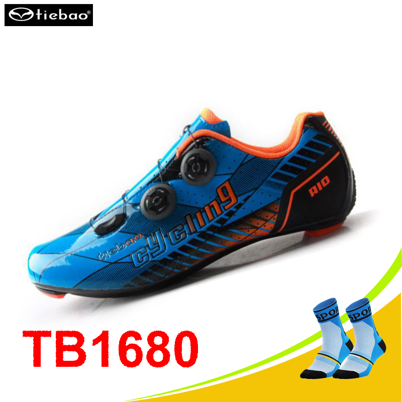 Tiebao Carbon fibre cycling shoes road sapatilha ciclismo athletic rubber bands sneakers women zapatillas deportivas hombre tiebao cycling shoes 2017 winter off road bike athletic boots sapato masculino zapatillas deportivas mujer mens sneakers women