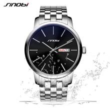 Sinobi esporte relógio de quartzo homens de negócios de moda horas erkek kol saati relógios mens militar relógios relogio masculino 2017 l10