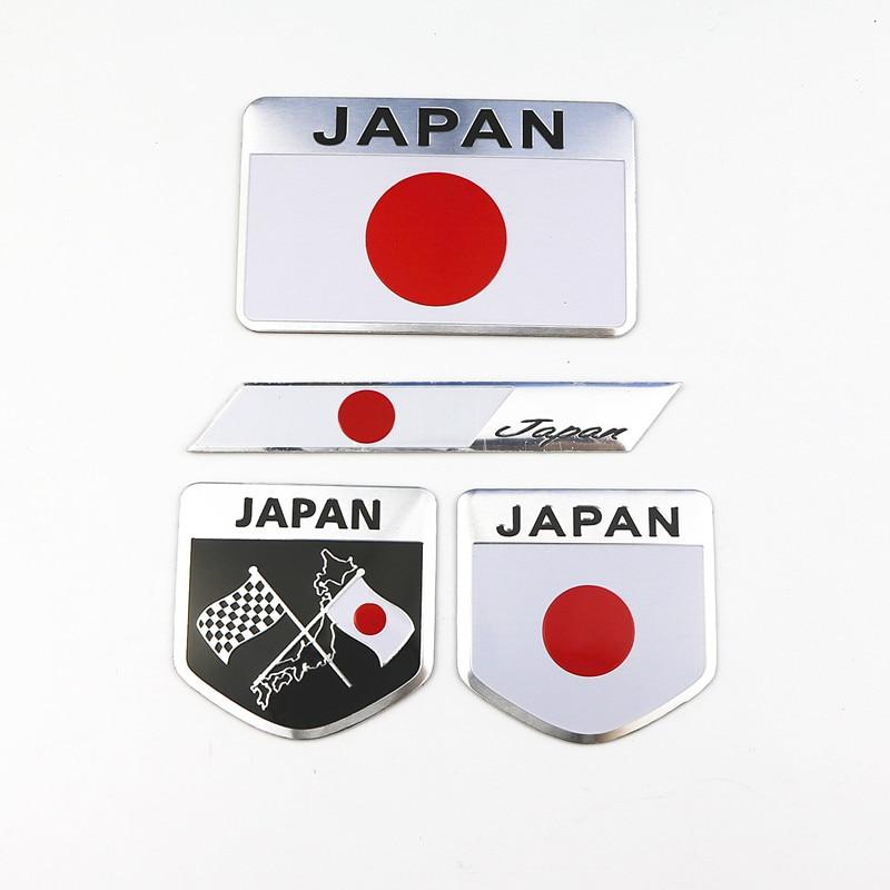 Car Styling Japanese Flag Emblem Badge Car Sticker Decals Accessories For Toyoto Honda Nissan Mazda Lexus Mitsubishi Car-Styling