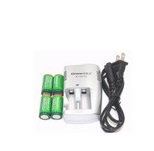 Бесплатная доставка 4 шт. 1350 мАч 3 В CR123A аккумуляторные батареи LiFePO4 литиевая батарея + 1 шт. зарядное устройство