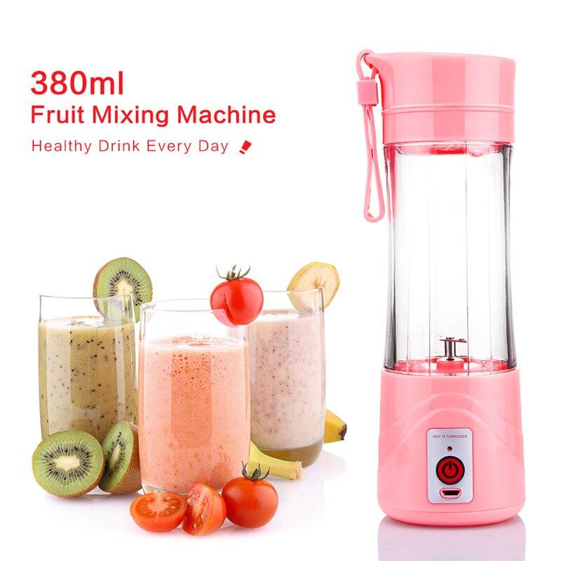 Portable Electric USB Juicer Cup Rechargeable Orange Citrus Lemon Fruit Juicer Blender Juice Smoothie Maker