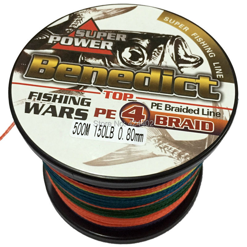 high quality 500M  150LB 0.8mm Rope Fishing Cord  4strands supper strong Japan PE Multifilament Braided Fishing Line wires  beyblade set