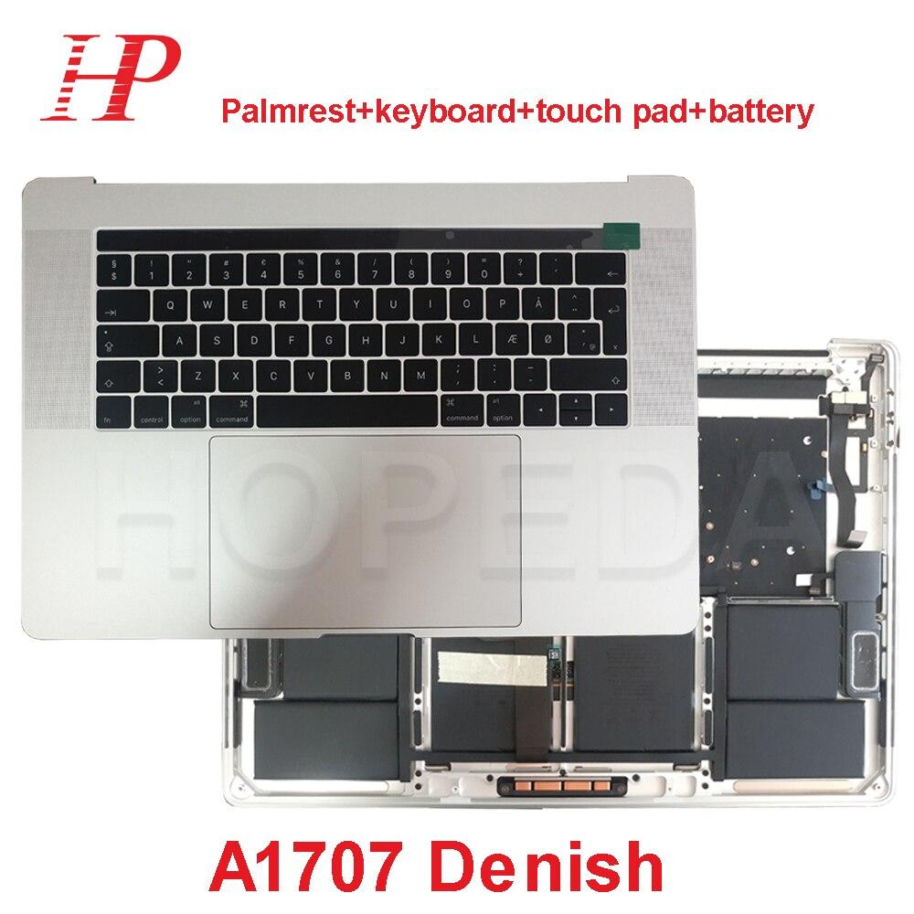 D'origine Pour Apple Macbook Pro 15 ''A1707 Top Case Repose-Mains Avec Clavier + Touchpad + Batterie L'assemblée Denish Danemark mise en page