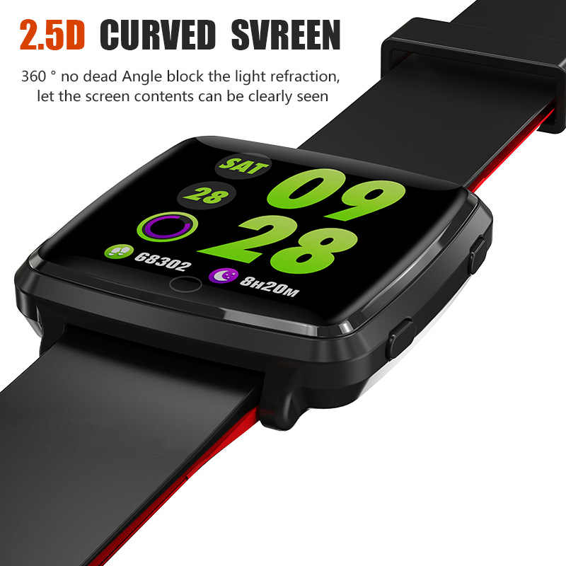 GEJIAN BL89 цветной экран умный Браслет Спорт Bluetooth 4,0 монитор кровяного давления Смарт-часы водонепроницаемые мужские черные
