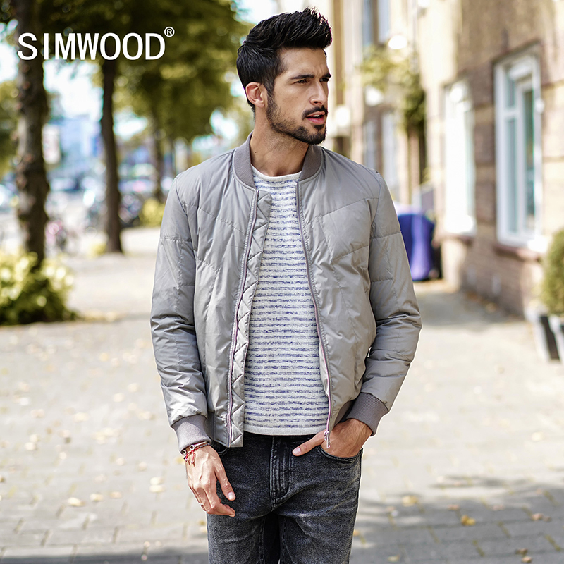 SIMWOOD 2017 New Arrival Waterproof Windproof Breathable Warm Down Winter Men Coat Casual Brand Clothing Outwear YR017001