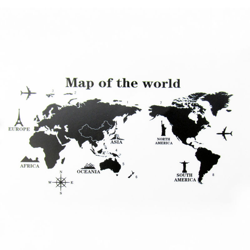 Colorful world map wall sticker decal vinyl animal cartoon wall world map wall sticker 2 gumiabroncs Gallery