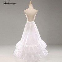 Trắng A Line Wedding Petticoat Đàn Hồi Eo Phụ Nữ Underskirts khung làm cái vái phùng Phụ Kiện Cô Dâu