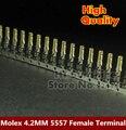 300 ШТ./ЛОТ Molex 4.2 ММ 5557 Терминал/разъем/разъемы, размер Шага: 4.2 ММ, жильный Кабель для Дома Женский Pin