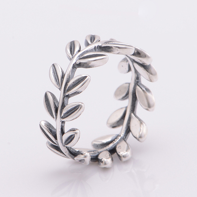 b77cd99b9 ... my posh picks pinterest leaf ring pandora rings and pouches 9e380 0c388  norway original 925 sterling silver laurel wreath ring vintage leaf wedding  ...