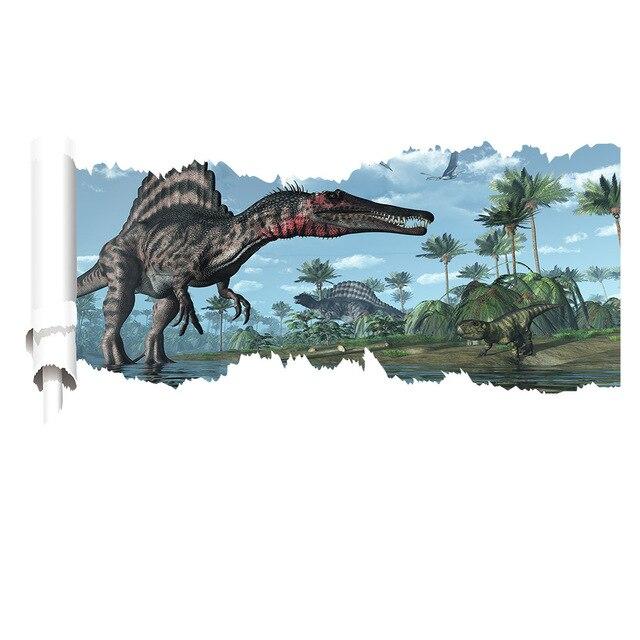 3D dinosaurus Smashed Muur Decoratins Voor Kids Babykamer Jongens ...