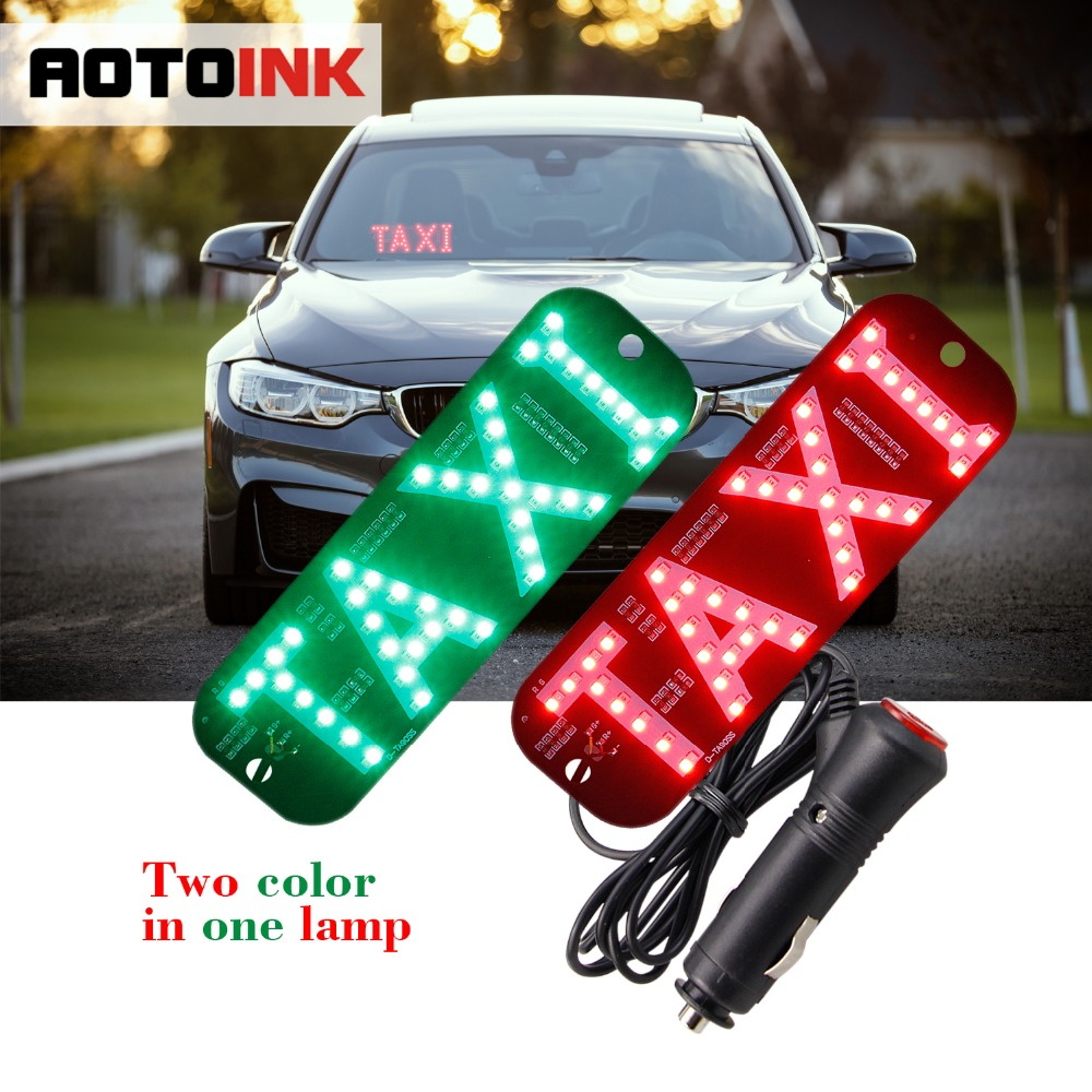 US $10 19 49% OFF|AOTOINK Dual Color Car Taxi Light Windscreen Cab  indicator Sign Signal Red And Green All In One Switch Lighter Charger-in  Signal
