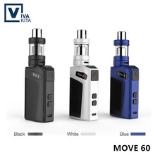 Digital Cigarette Mechanical Mod Equipment 60W Variable wattage OLED Display 2.0ml Vape Sub Tank MVOE 60 KIT Match RTA RDA RDTA RBA