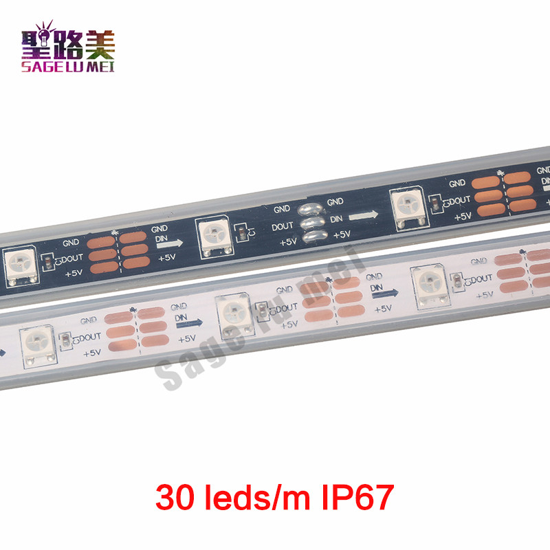 1m / 5m DC5V individuellt adresserbar ws2812b ledad remsa ws2811ic - LED-belysning - Foto 4