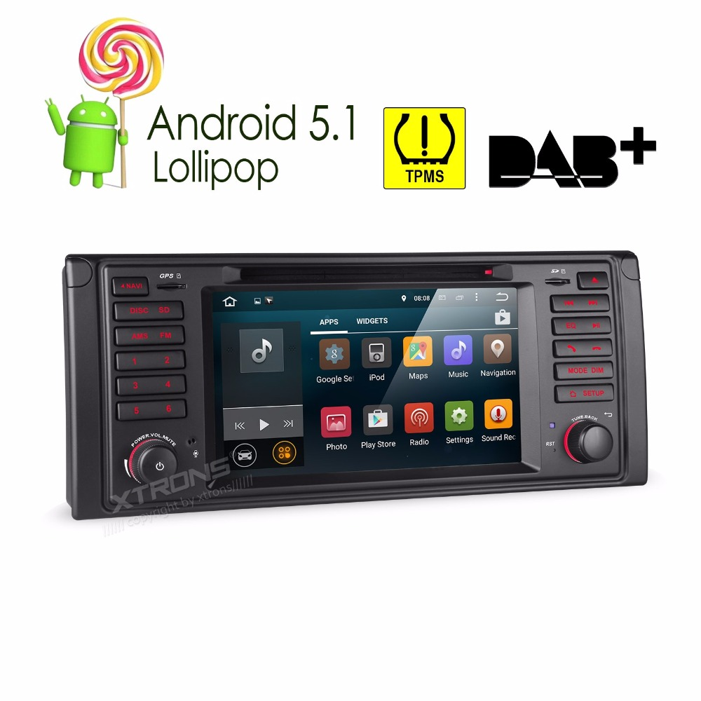 7″ Quad Core Android 5.1 OS Special Car DVD for BMW 5 Series Touring E39 1997-2004 & 5 Series Sedan 1995-2003 & X5 E53 2000-2006