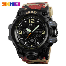 SKMEI Fashion Denim Style Sports Watches Men Outdoor Analog Digital LED Electronic Quartz Wristwatches Waterproof Watch 1327