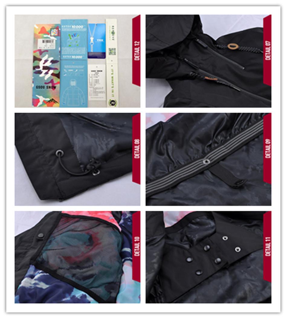 2017 Gsou Snow Snowboard Jacket And Pants Women Black Ski Suits Skihelm  Womens Sports Jackets Brands Clothing Winter Sport Suit 9212581c4