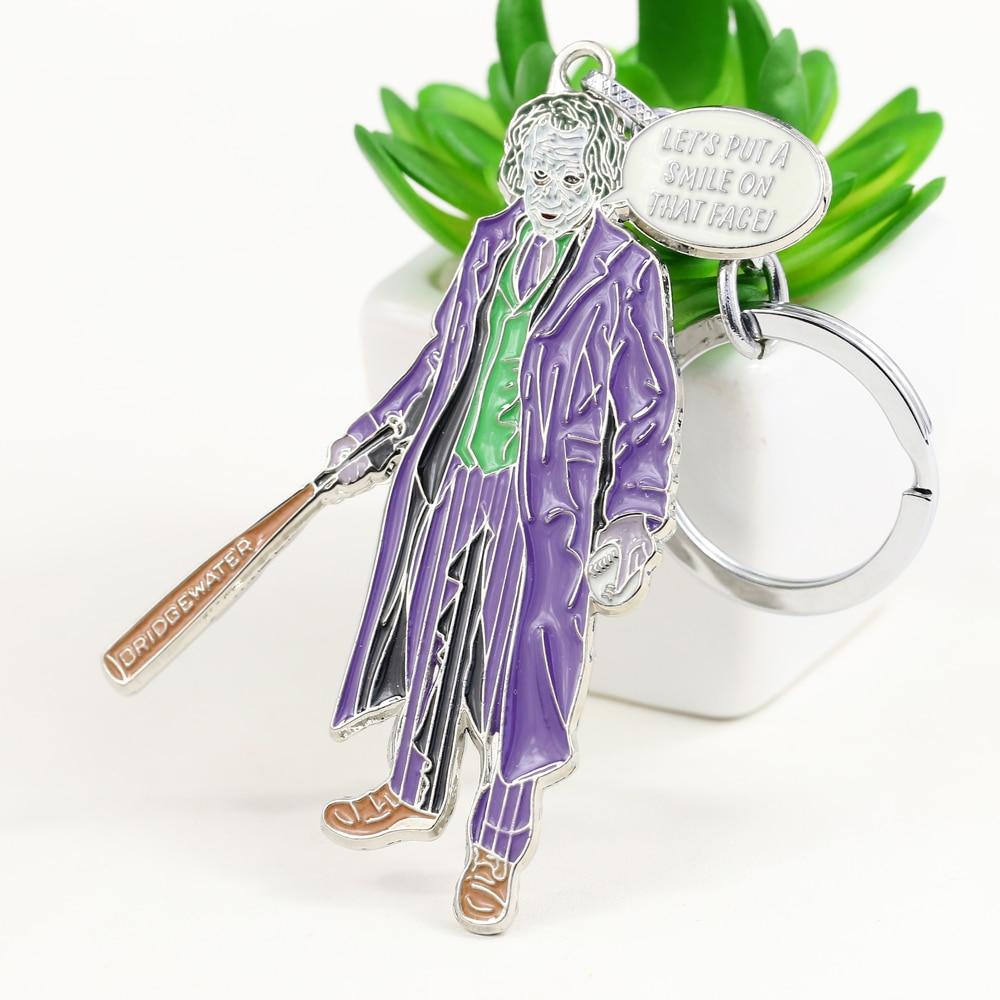 MS JEWELS Movie Show Jewelry Batman Joker Keychain Metal Key Rings For Gift Chaveiro Key Chain