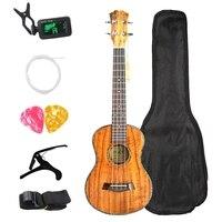 Концертные комплекты укулеле 23 дюймов из красного дерева УКУ 4 струнная гитара с сумкой тюнер Капо ремень Stings медиаторы для начинающих музы...