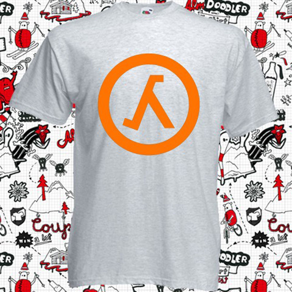 New Counter Strike Half Life Logo Video Games Mens Grey T-Shirt Size S to 3XL