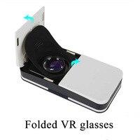 2018 novo mini bolso especial do telefone móvel óculos de dobramento 3d vr óculos de realidade virtual para o telefone móvel