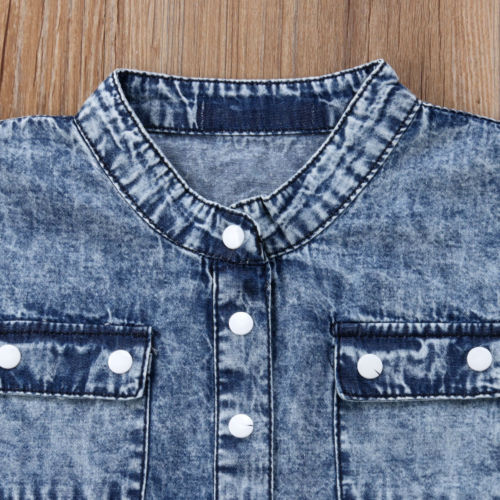 2018 New Style Kid Girl Denim Rompers Baby Girls Romper Jumpsuit Summer Toddler Children Fashion Outfits Clothes Mother & Kids