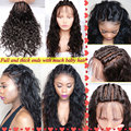 Lace Front Human Hair Wigs For Black Women Glueless Full Lace Human Hair Wigs With Baby Hair Lace Frontal Natural U Part Wig