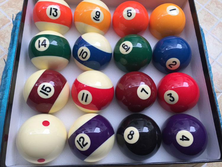 high quality 572mm resin billiards pool samll number design ball in ball shape complete set of balls 2 14 inch nine ball balls