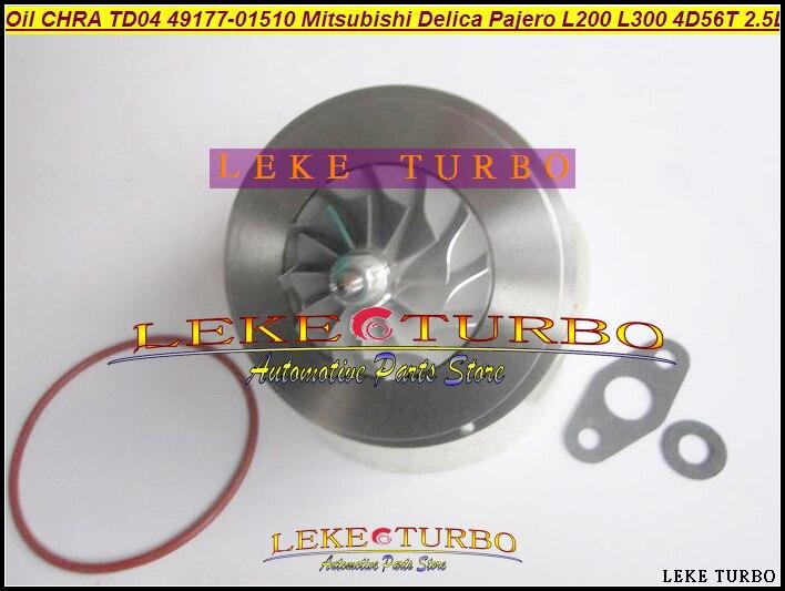 Oil Turbo CHRA Cartridge TD04 49177-01510 49177-01511 MD094740 MD168053 For Pajero L200 L300 4D56T 4D56 2.5L