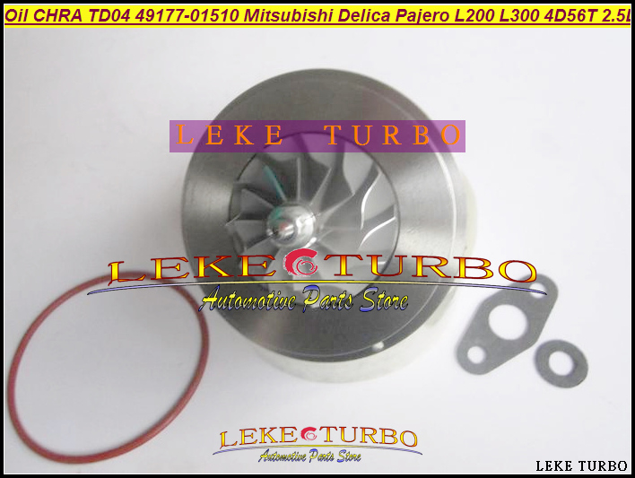 Oil Turbo CHRA Cartridge TD04 49177-01510 49177-01511 MD094740 MD168053 For Mitsubishi Delica Pajero L200 L300 4D56T 4D56 2.5L free ship other model td04 49177 07503 28200 42520 49177 07503 49177 07504 49177 07505 turbo for hyundai galloper d4bf 4d56 2 5l