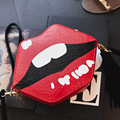 2017 SmartNee Women Shoulder Bags Crossbody Bag For Women Handbag PU Leather Red Lips Candy Color Cute tassel Bag