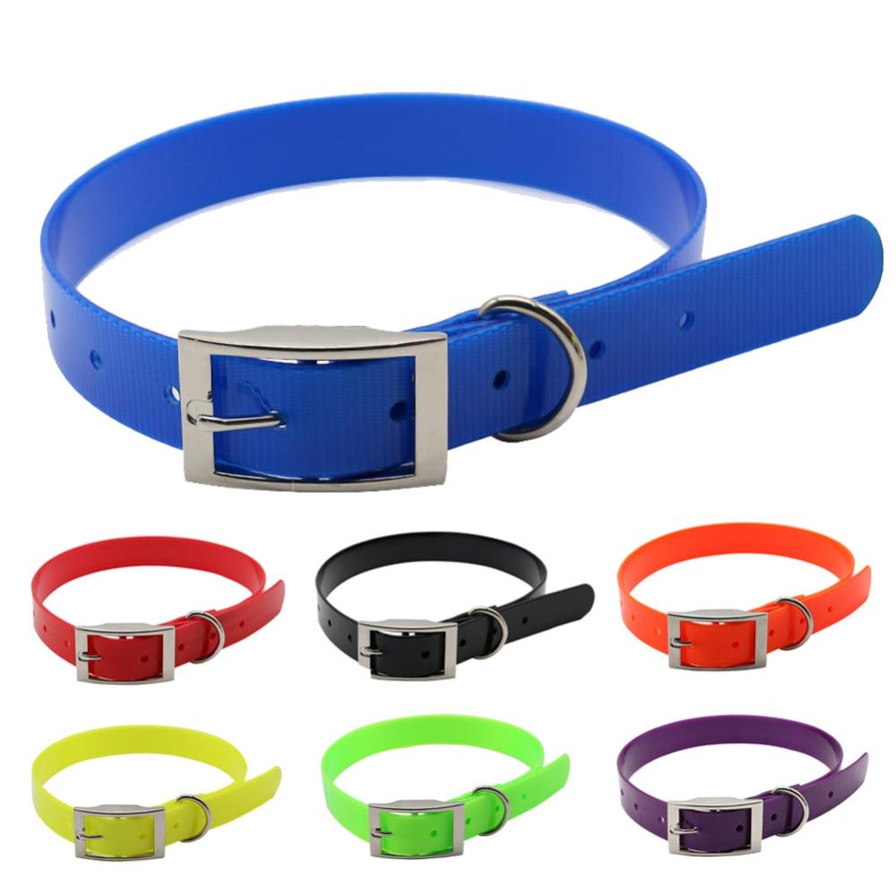 collier de chien de compagnie de haute qualité TPU + Nylon nuit rougeoyante colliers de sécurité nuit réfléchissante collier déodorant imperméable pour animaux de compagnie