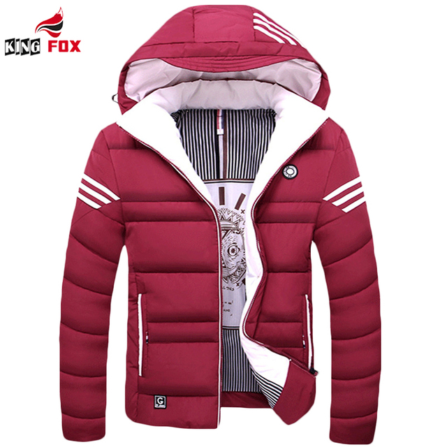 Winter jacket Men casual warm cotton down coat mens jackets and coats thicken outwear brand clothing Asian size M~5XL