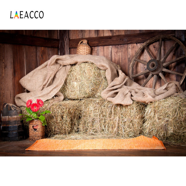 Laeacco Rural Farm Barn Haystacks Interior Scene Baby Photography Backgrounds Customized Photographic Backdrops For Photo Studio