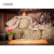 Laeacco Rural House Farm Haystacks Interior Scene Personalized Photography Backgrounds Photographic Backdrops For Photo Studio