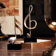 Creative vintage musical note home decoration study living room Fashion Crafts Office accessories