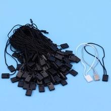 500 шт., длина 18 см, лента для одежды, бирка для одежды, веревка/шнуры/бирка, черная/белая/серая печать-001